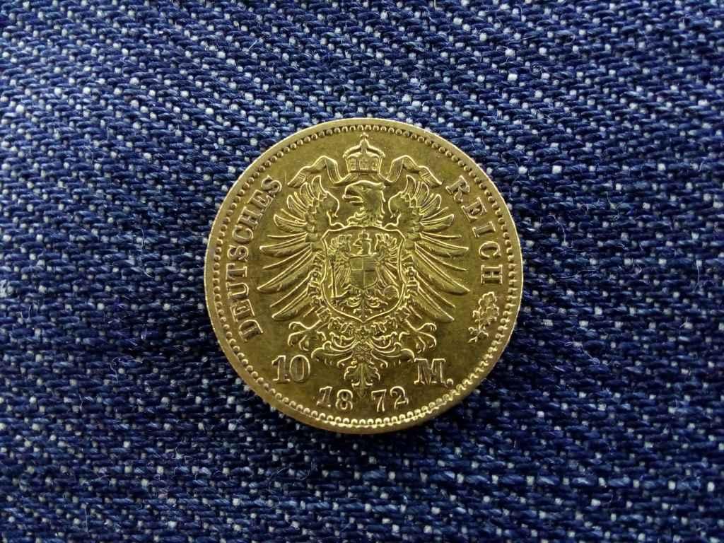 I. Vilmos arany 10 Márka 1872 C