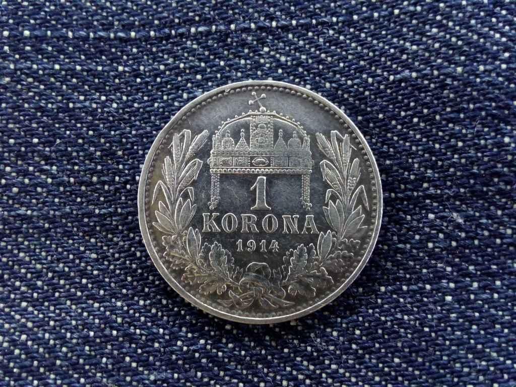Szép ezüst 1 Korona 1914