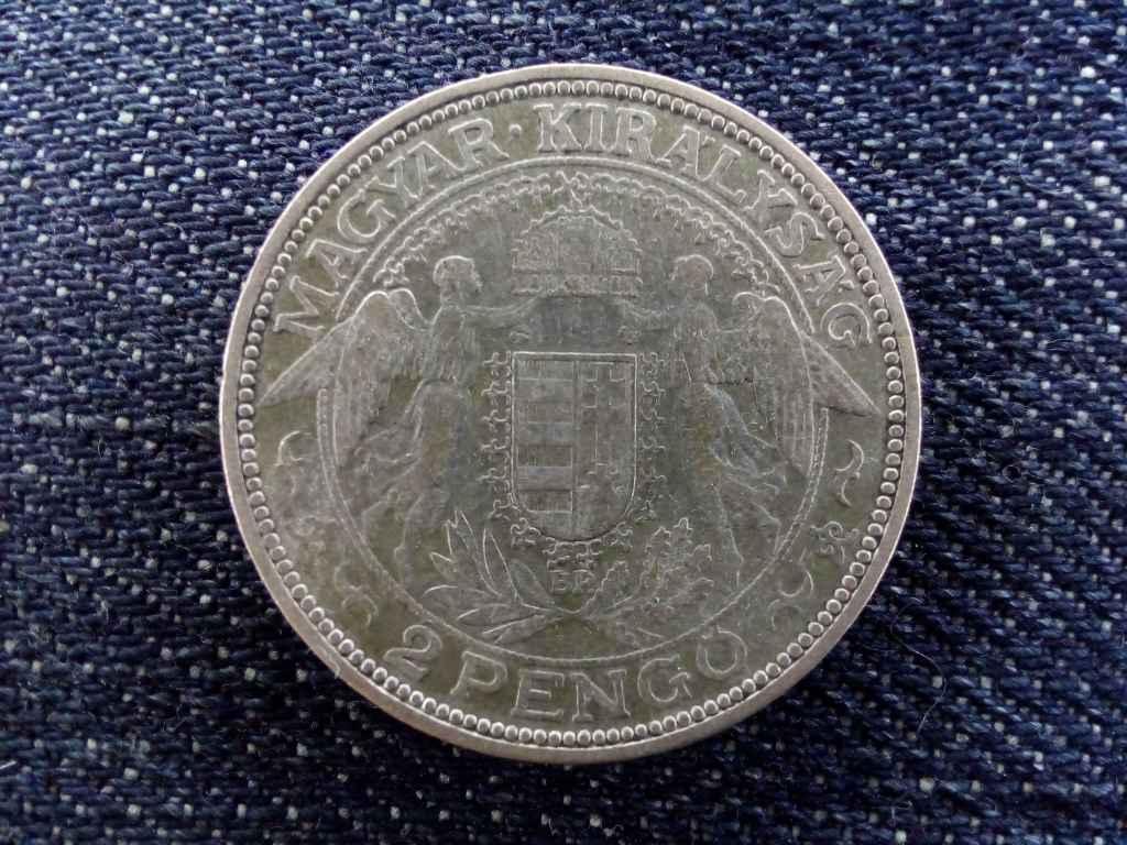 Nagyon ritka Madonnás ezüst 2 Pengő 1931