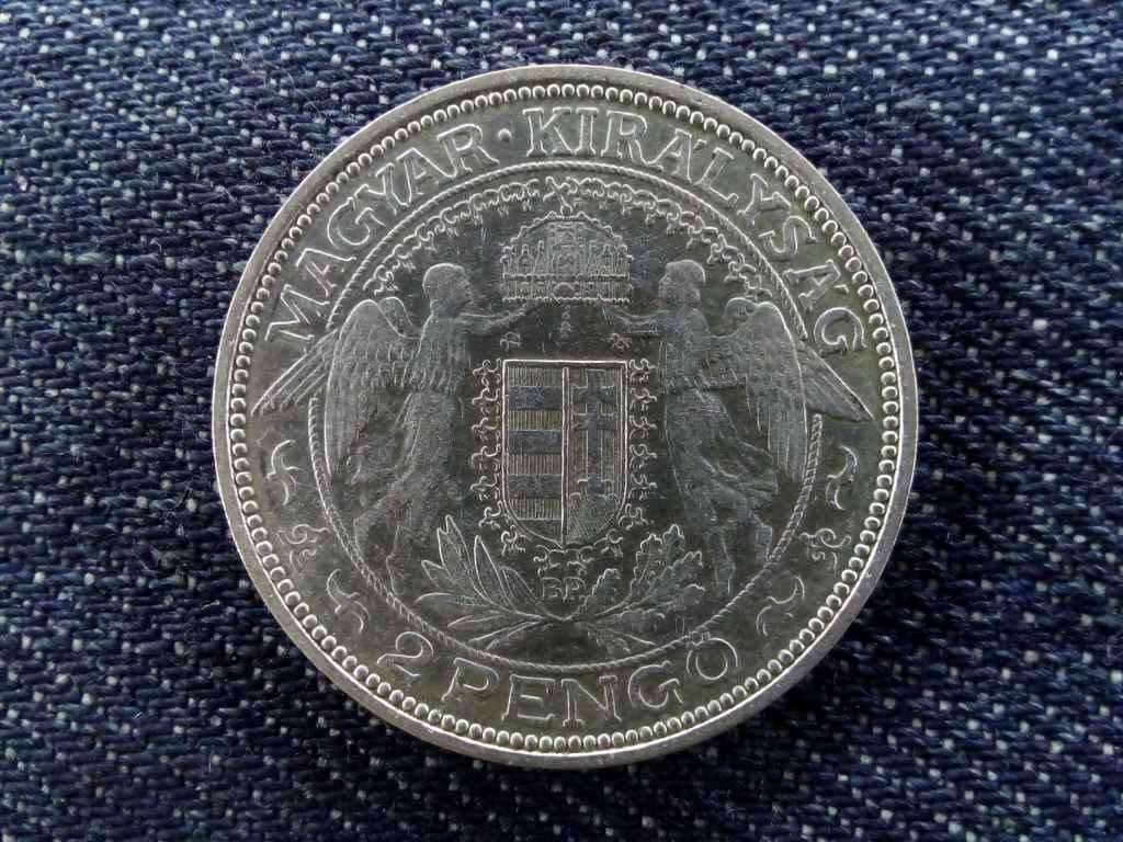 Szép és ritkább Madonnás ezüst 2 Pengő 1936
