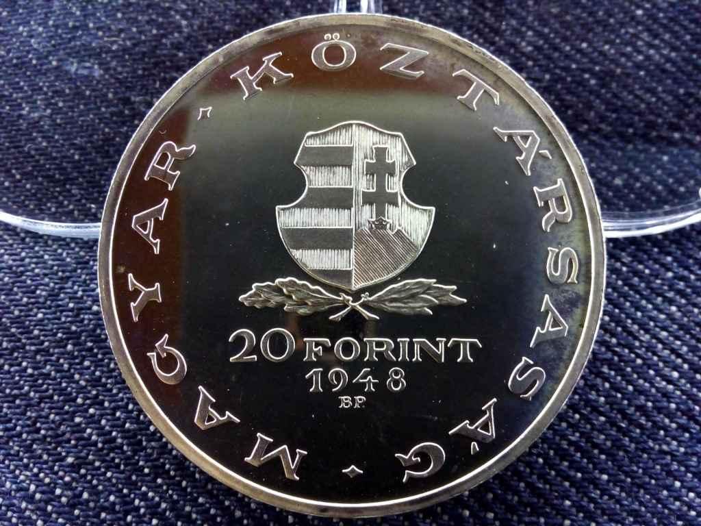 Ritka Táncsics ezüst 20 Forint 1948 PP tanúsítvánnyal