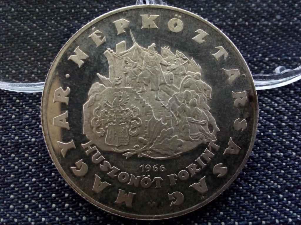 Zrínyi Miklós emlékérme-sorozat ezüst 25 Forint 1966 BP BU