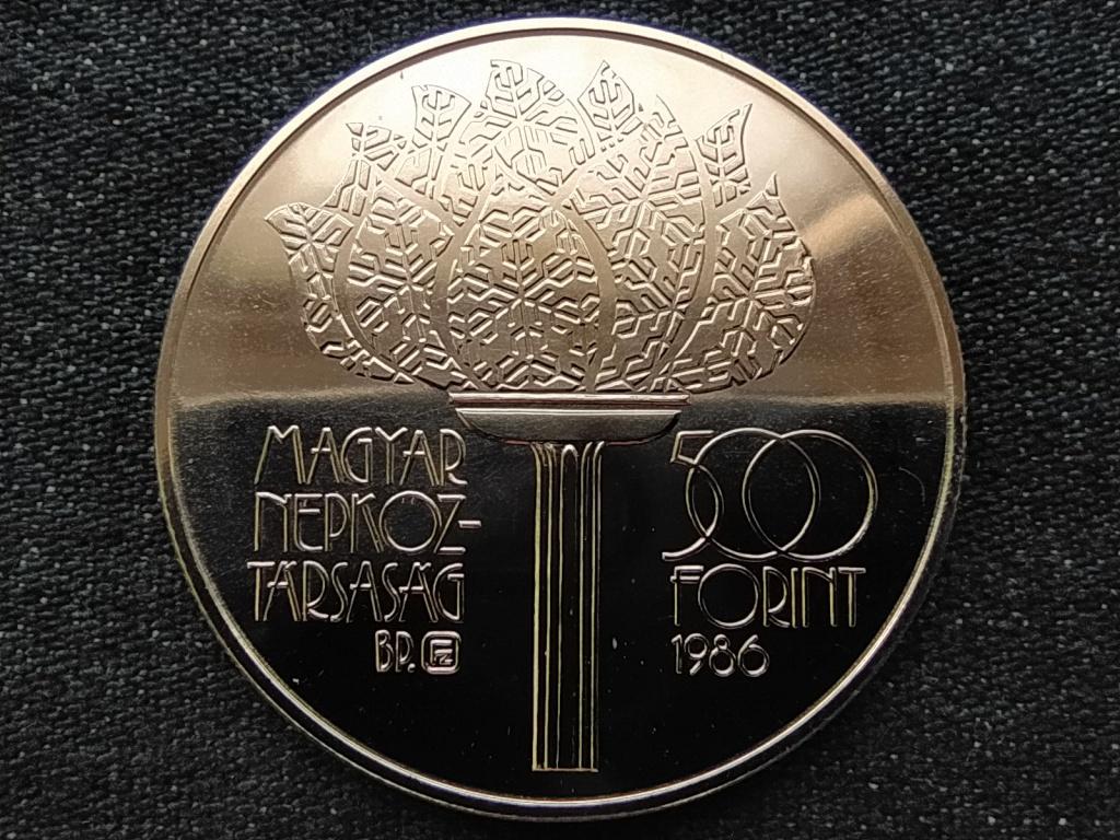 XV. Téli olimpia Calgary 1988 ezüst 500 Forint 1986 BU