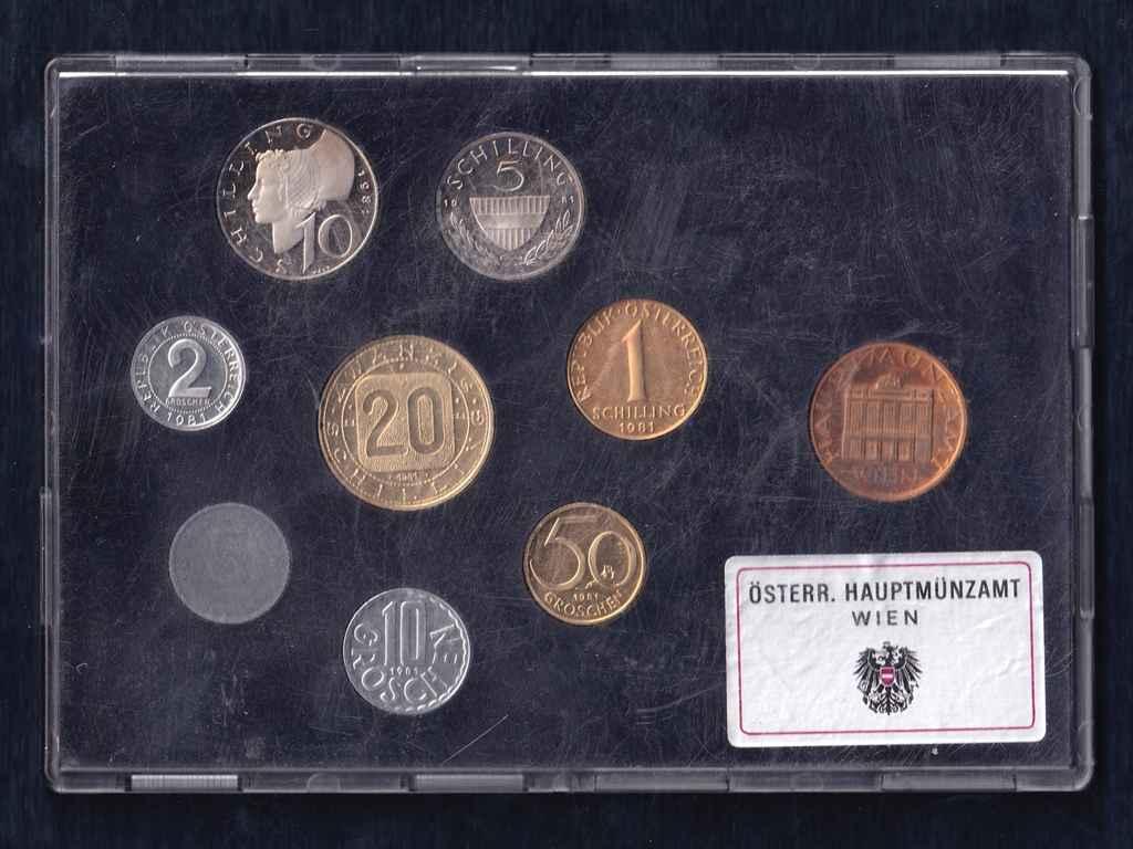 Ausztria - Proof forgalmi sor 1981