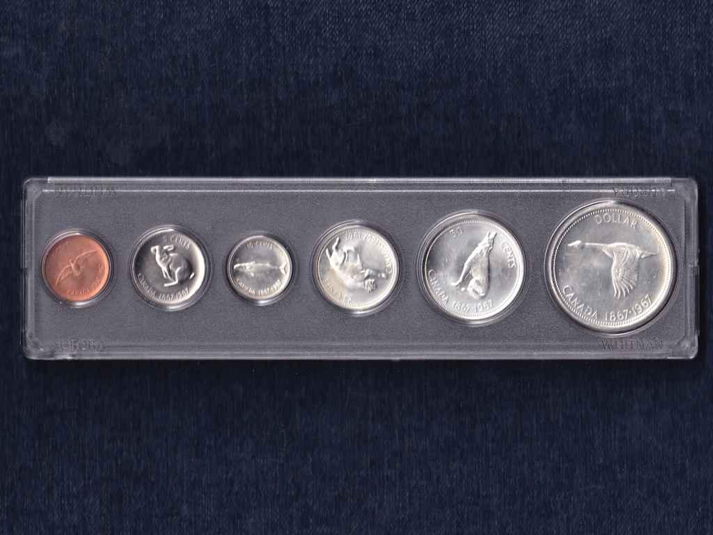 Kanada - Állatos sor 1967, 4 db ezüsttel