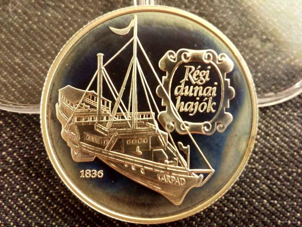 Régi dunai hajók - Árpád ezüst 500 Forint 1993 PP