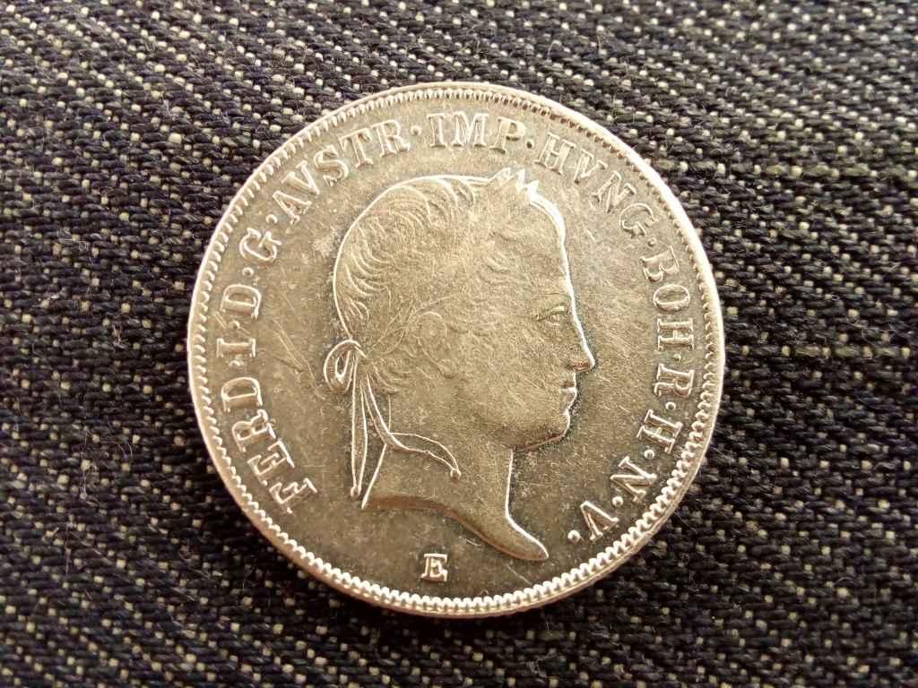 V. Ferdinánd ritka ezüst 20 Krajcár 1838 E (Gyulafehérvár)