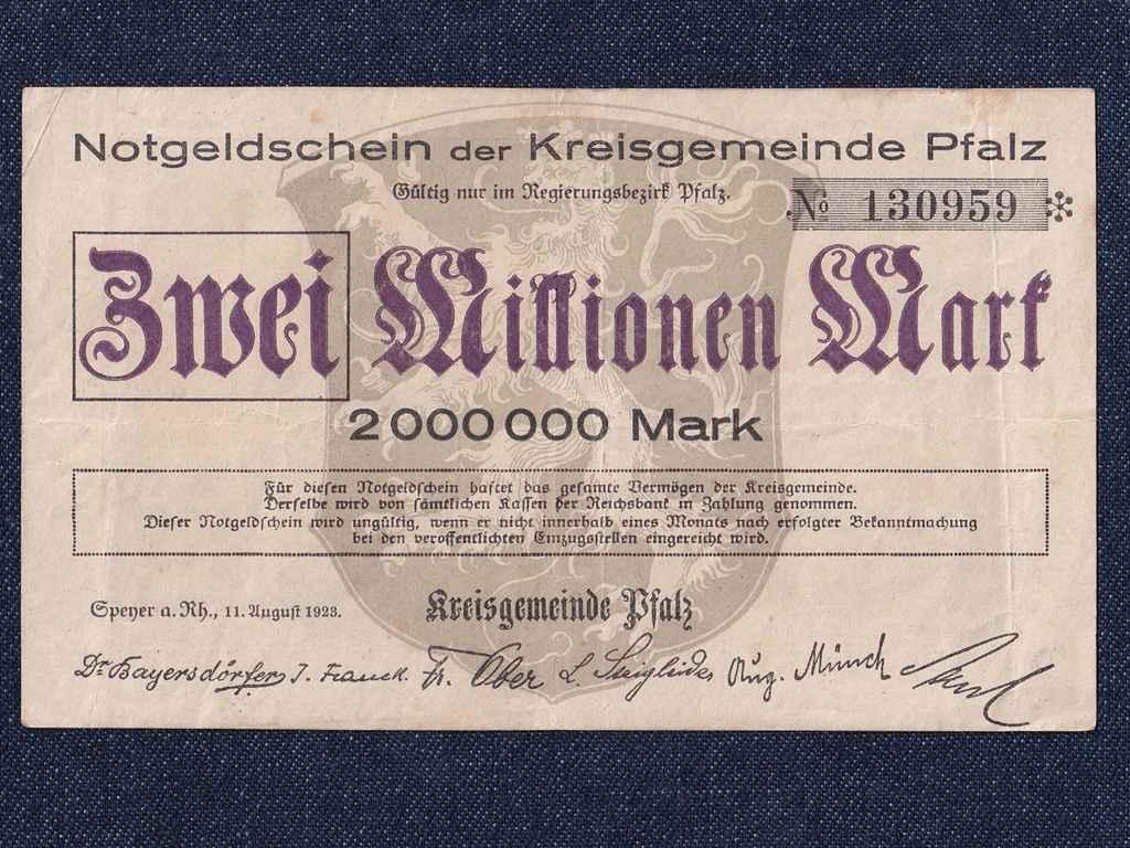 Német 2 millió márka 1923