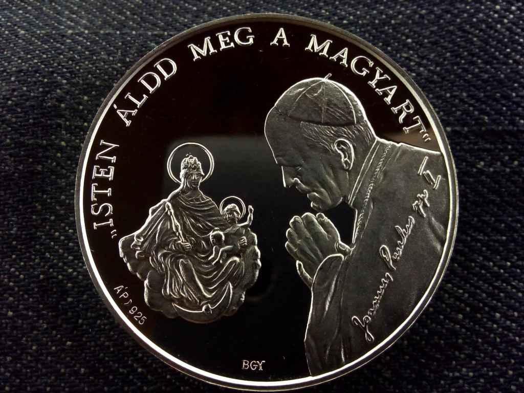 II. János Pál pápa Esztergomban, Állami Pénzverő, 1 uncia .925 ezüst