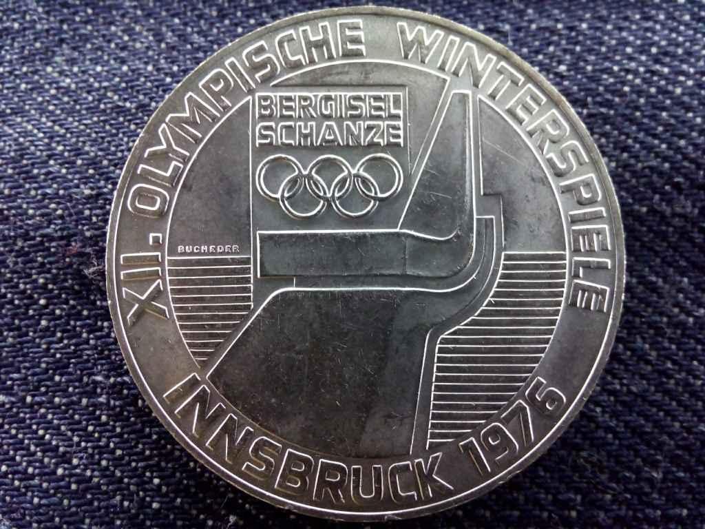 Ausztria, XII. Innsbrucki téli Olimpiai játékok ezüst (.640) 100 Schilling 1975