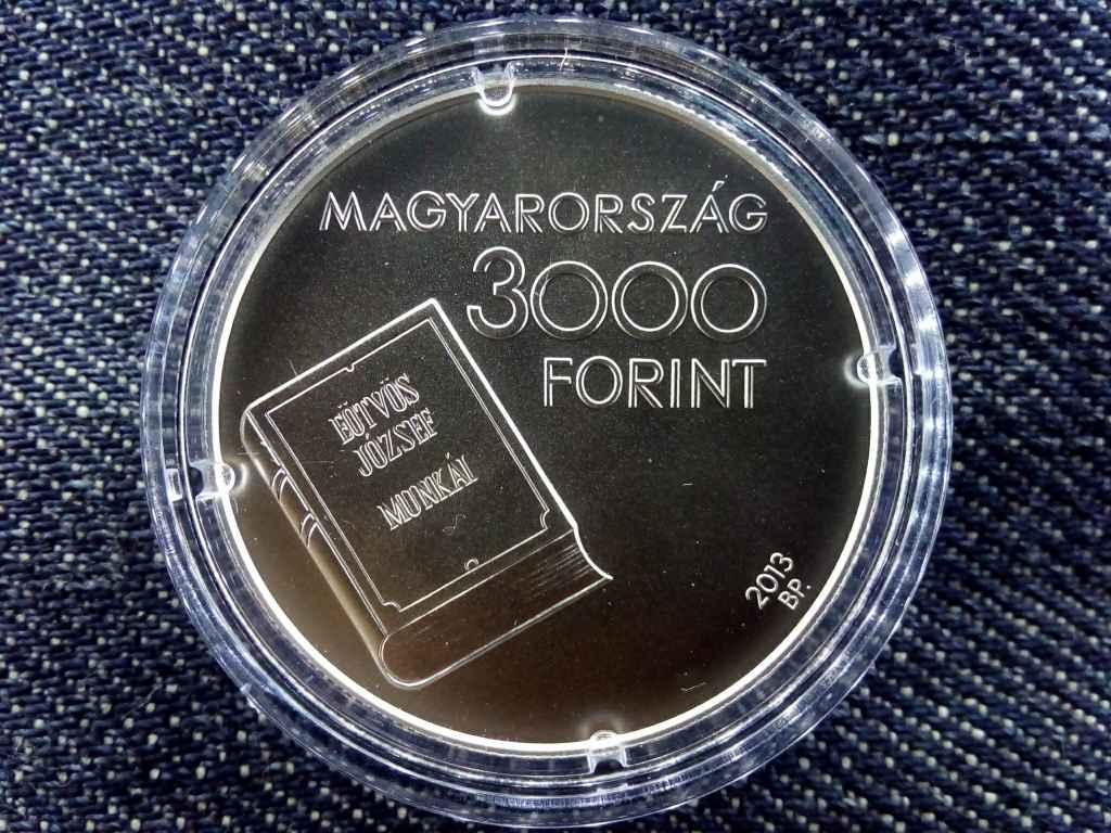 Eötvös József születésének 200. évfordulója .925 ezüst 3000 Forint 2013 BP BU