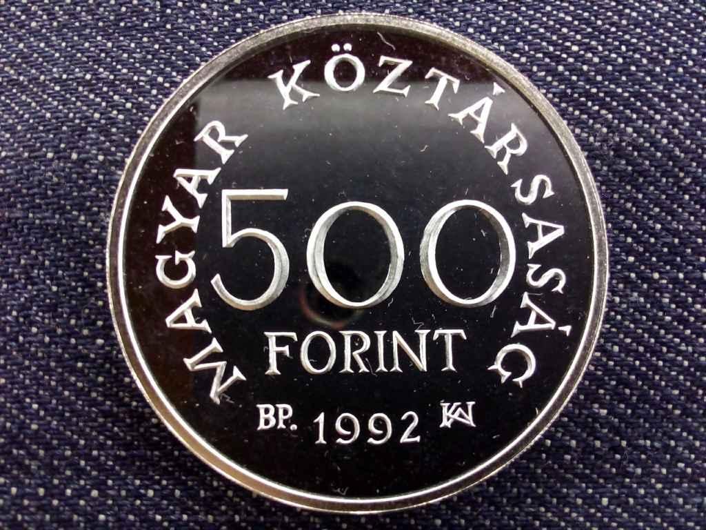Károly Róbert halálának 650. évfordulójára ezüst 500 Forint 1992 BP PP