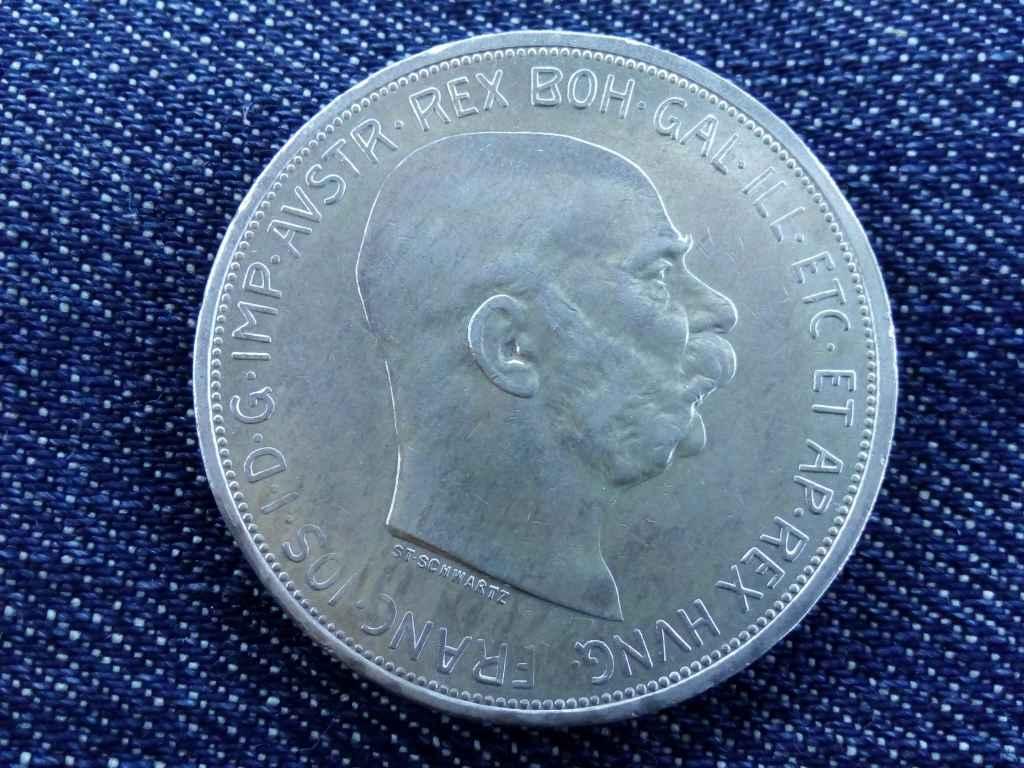 Nagyon szép Ferenc József ezüst 5 Corona 1909