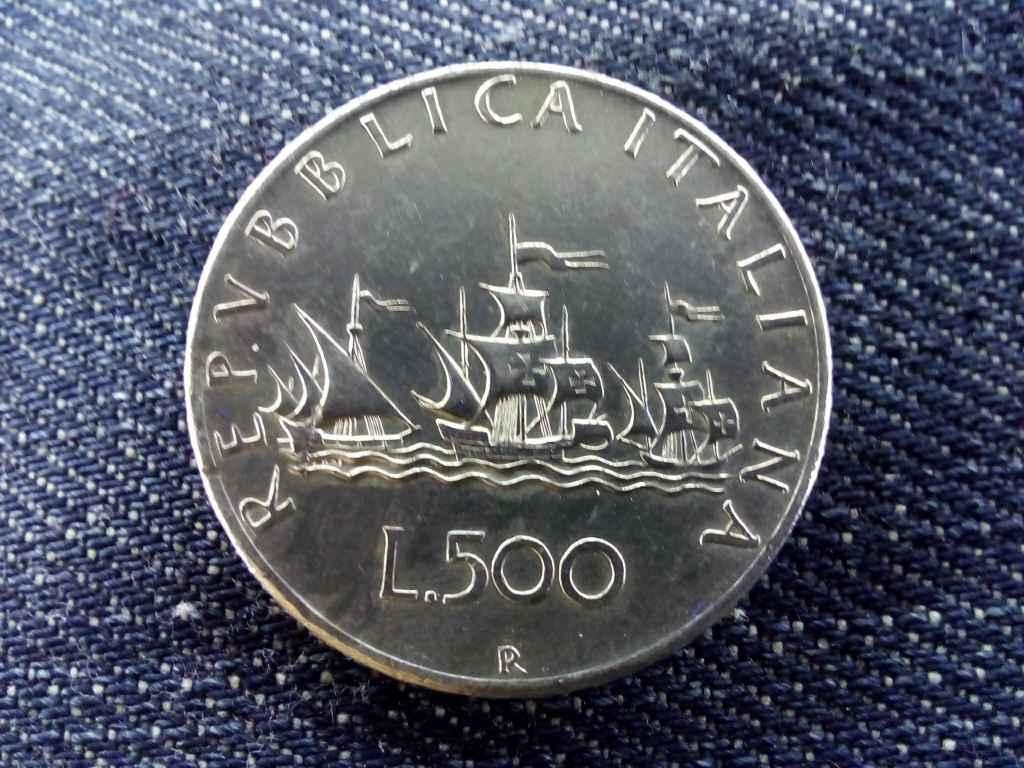 Olaszország .835 ezüst 500 Líra 1958 R